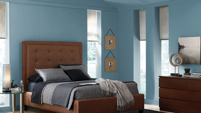 Choosing A Soothing Shade Behr Draws Up Blueprint As Its Color Of Gorgeous Blueprint Interior Design Painting